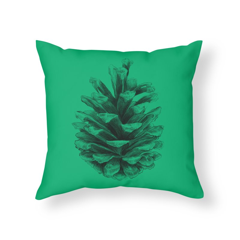 Pine Cone Home Throw Pillow by ericfan's Artist Shop