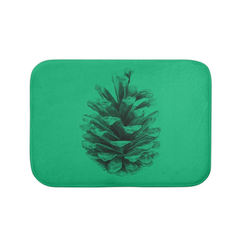 Pine Cone Home Bath Mat by ericfan's Artist Shop