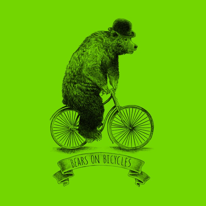 Bears on Bicycles Men's T-shirt by ericfan's Artist Shop