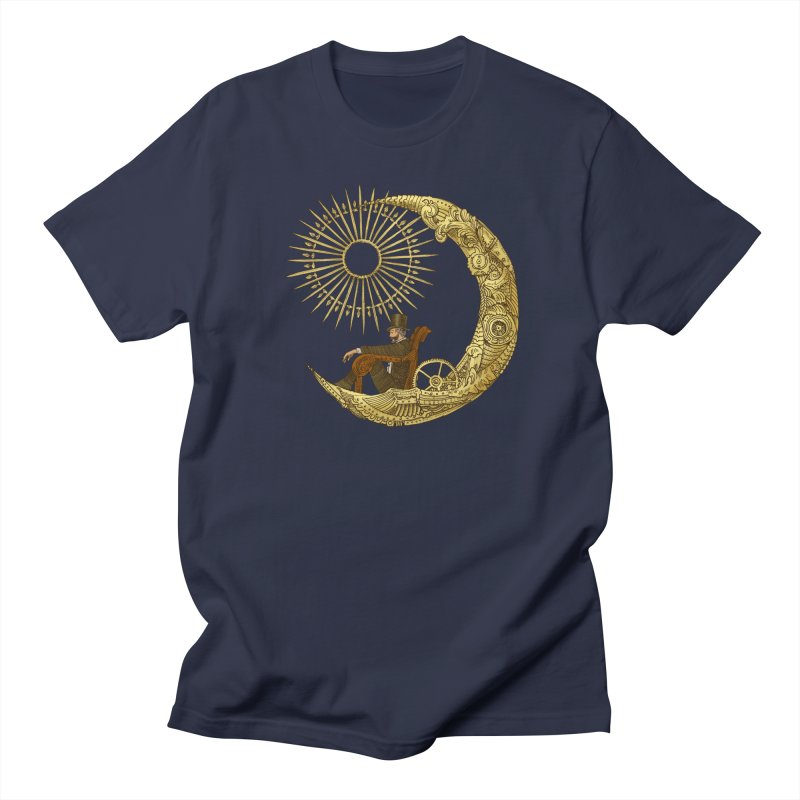Moon Travel in Men's T-Shirt Navy by ericfan's Artist Shop