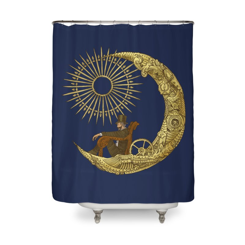 Moon Travel Home Shower Curtain by ericfan's Artist Shop