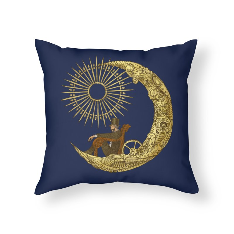Moon Travel Home Throw Pillow by ericfan's Artist Shop