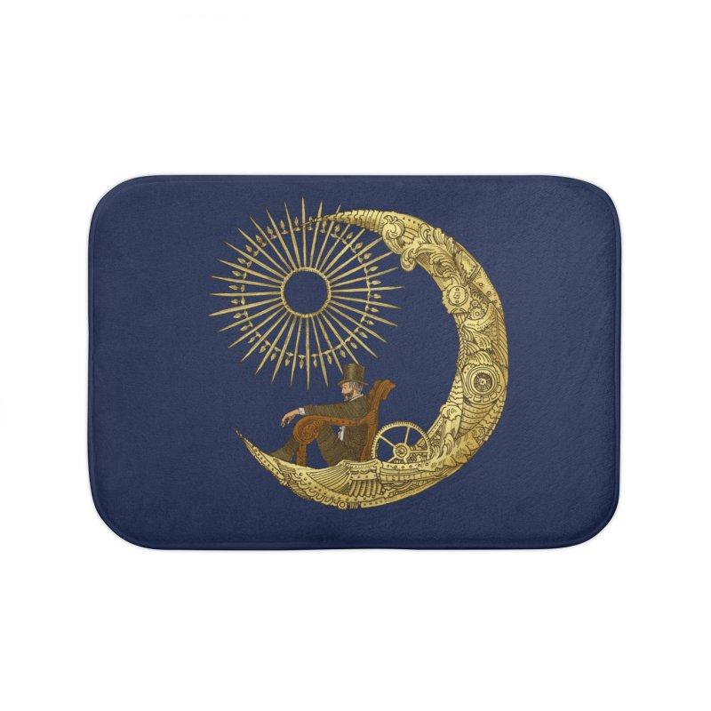 Moon Travel Home Bath Mat by ericfan's Artist Shop