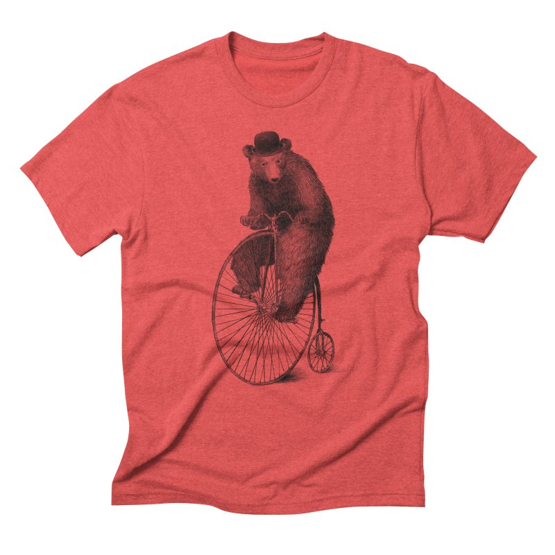 Morning Ride in Men's Triblend T-Shirt Chili Red by ericfan's Artist Shop