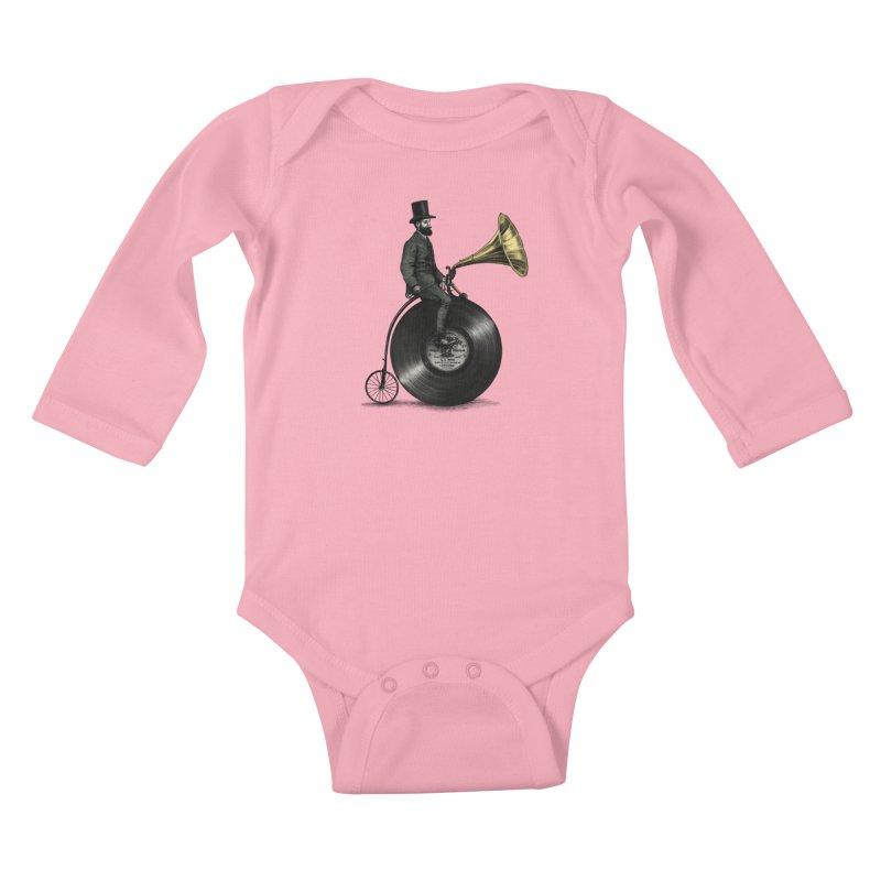 Music Man Kids Baby Longsleeve Bodysuit by ericfan's Artist Shop