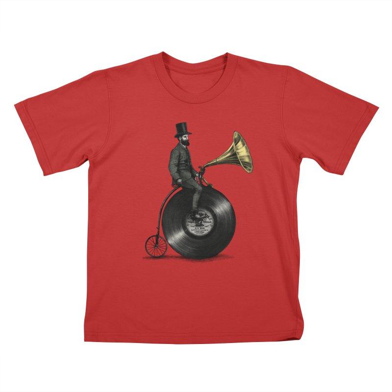 Music Man Kids T-Shirt by ericfan's Artist Shop
