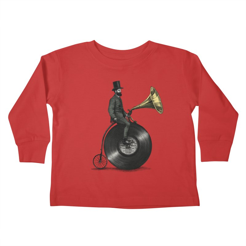Music Man Kids Toddler Longsleeve T-Shirt by ericfan's Artist Shop