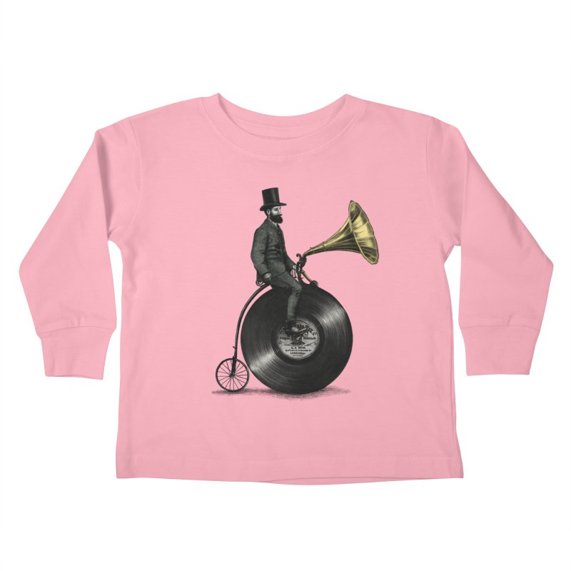 Music Man Kids Toddler Longsleeve T-Shirt by ericfan's Artist Shop