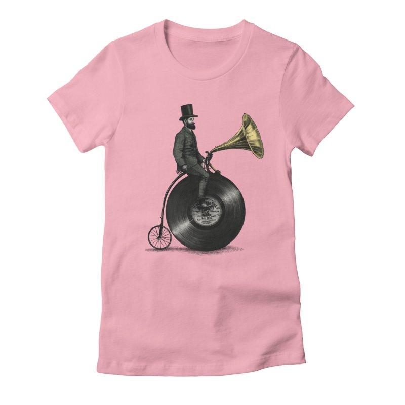 Music Man Women's Fitted T-Shirt by ericfan's Artist Shop