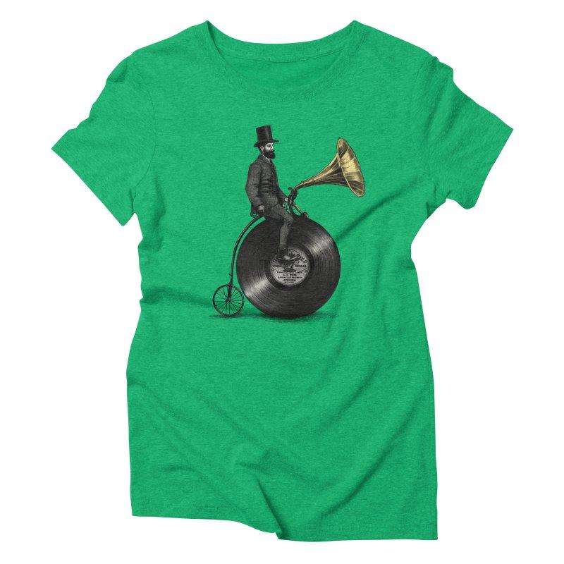 Music Man Women's Triblend T-shirt by ericfan's Artist Shop