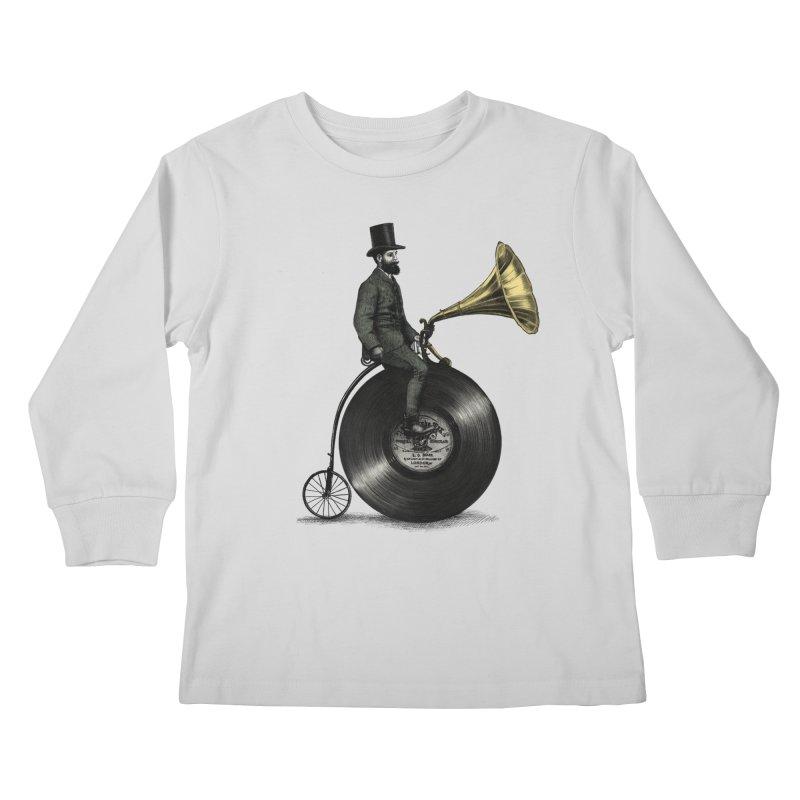 Music Man Kids Longsleeve T-Shirt by ericfan's Artist Shop