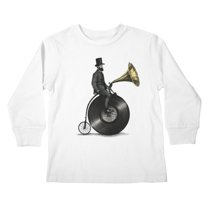 Music Man Kids Longsleeve T-Shirt by ericfan's Artist Shop