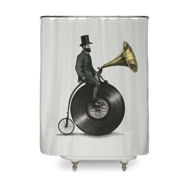 Music Man Home Shower Curtain by ericfan's Artist Shop