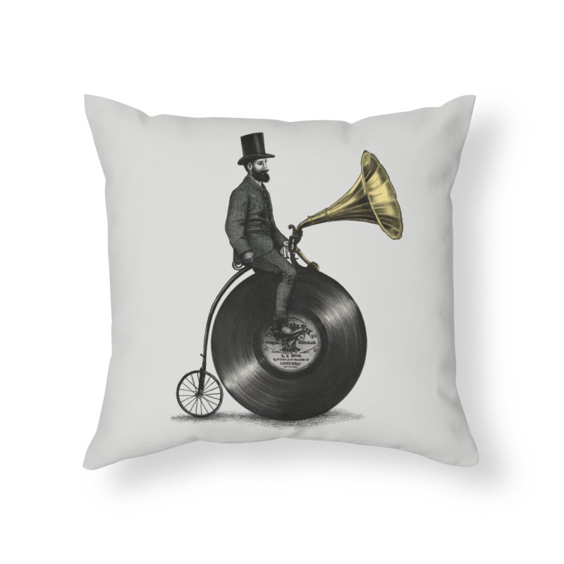 Music Man Home Throw Pillow by ericfan's Artist Shop