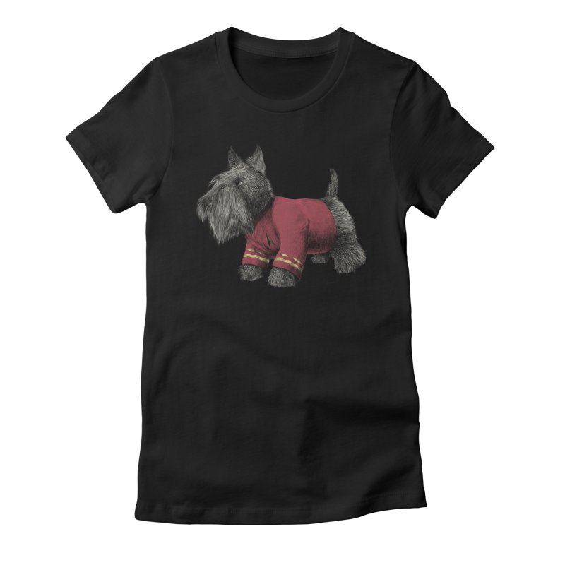 Scotty Women's Fitted T-Shirt by ericfan's Artist Shop