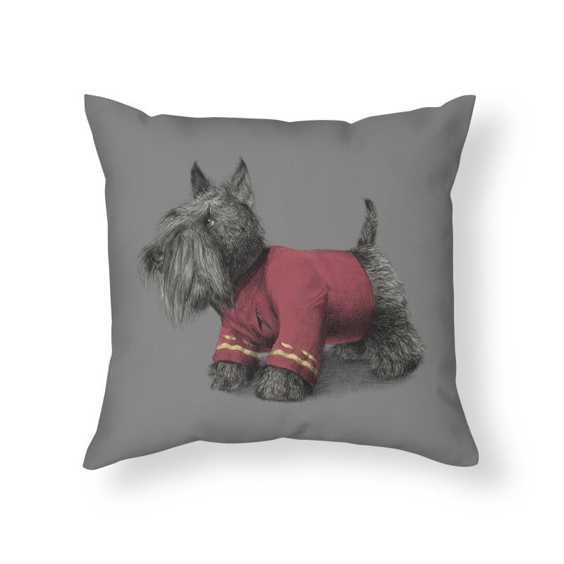 Scotty Home Throw Pillow by ericfan's Artist Shop