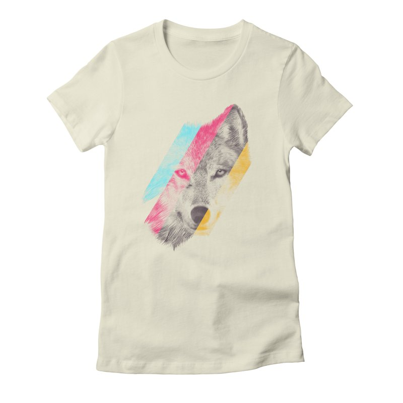 Wild Women's Fitted T-Shirt by ericfan's Artist Shop