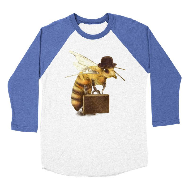 Worker Bee Women's Baseball Triblend T-Shirt by ericfan's Artist Shop