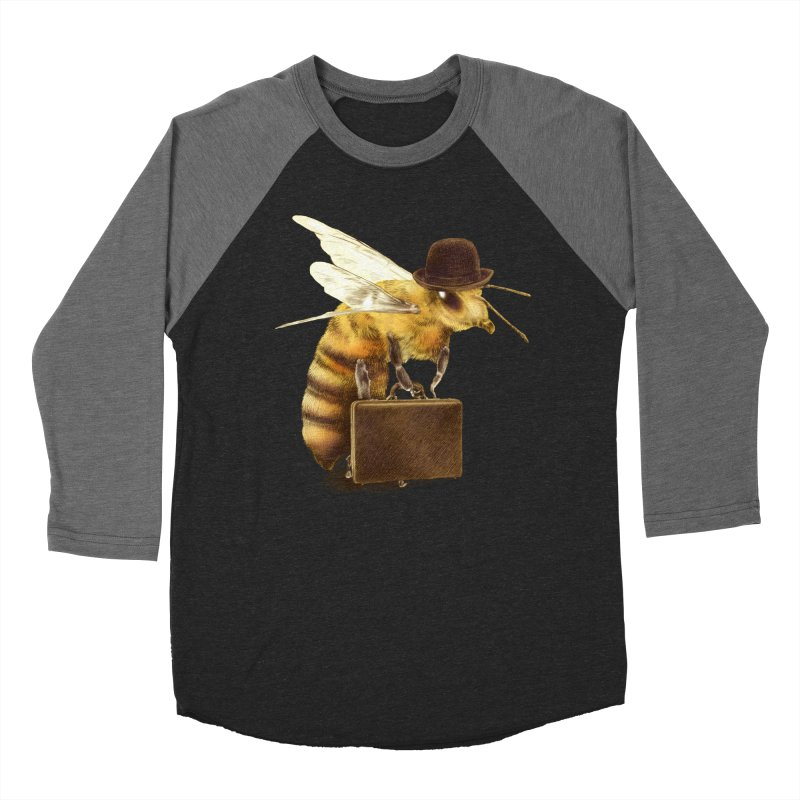Worker Bee Women's Baseball Triblend T-Shirt by ericfan's Artist Shop