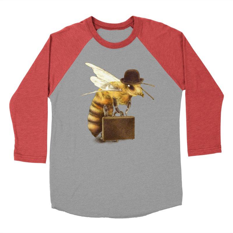 Worker Bee Men's Baseball Triblend T-Shirt by ericfan's Artist Shop