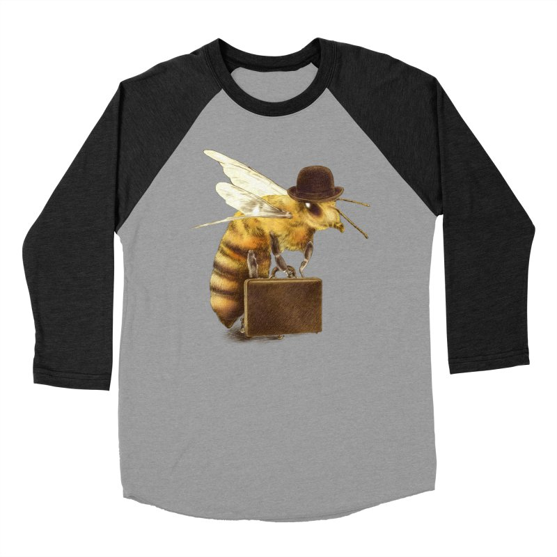 Worker Bee Men's Baseball Triblend T-Shirt by ericfan's Artist Shop