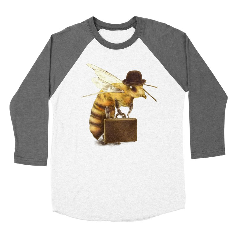 Worker Bee in Men's Baseball Triblend T-Shirt Tri-Grey Sleeves by ericfan's Artist Shop