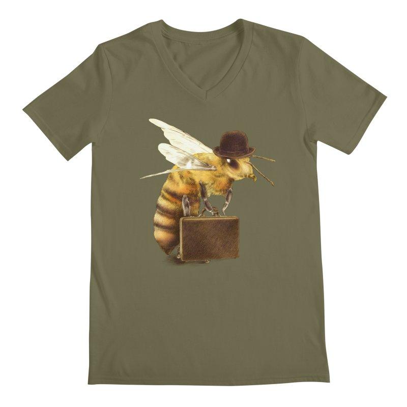 Worker Bee Men's V-Neck by ericfan's Artist Shop