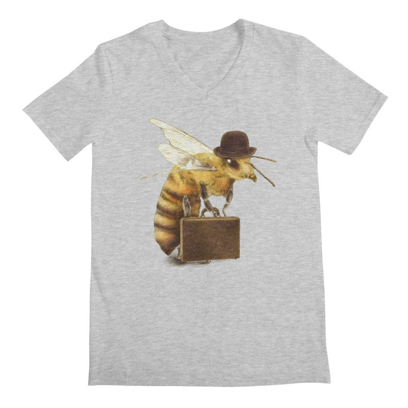 Worker Bee Men's V-Neck by ericfan's Artist Shop