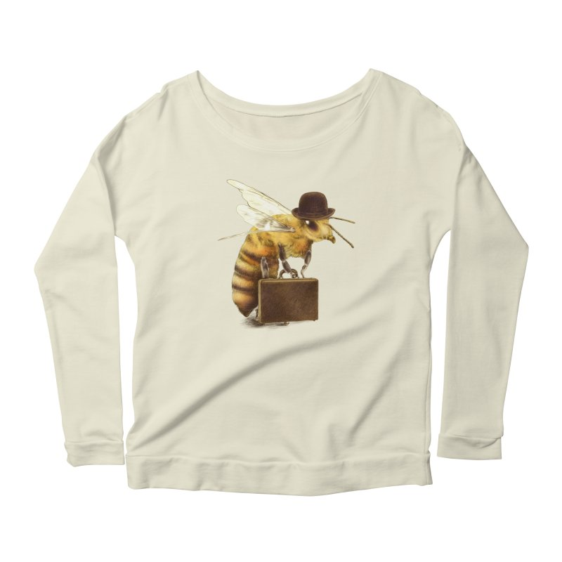 Worker Bee Women's Longsleeve Scoopneck  by ericfan's Artist Shop
