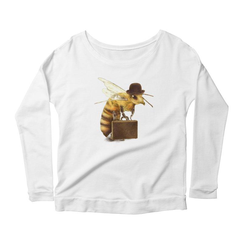 Worker Bee Women's Longsleeve Scoopneck  by ericfan's Artist Shop