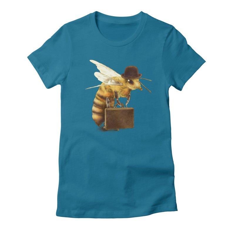 Worker Bee Women's Fitted T-Shirt by ericfan's Artist Shop