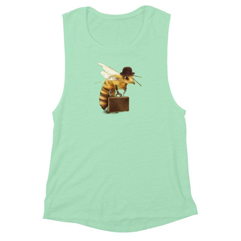 Worker Bee Women's Muscle Tank by ericfan's Artist Shop