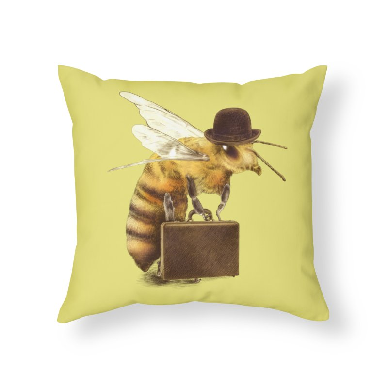 Worker Bee Home Throw Pillow by ericfan's Artist Shop