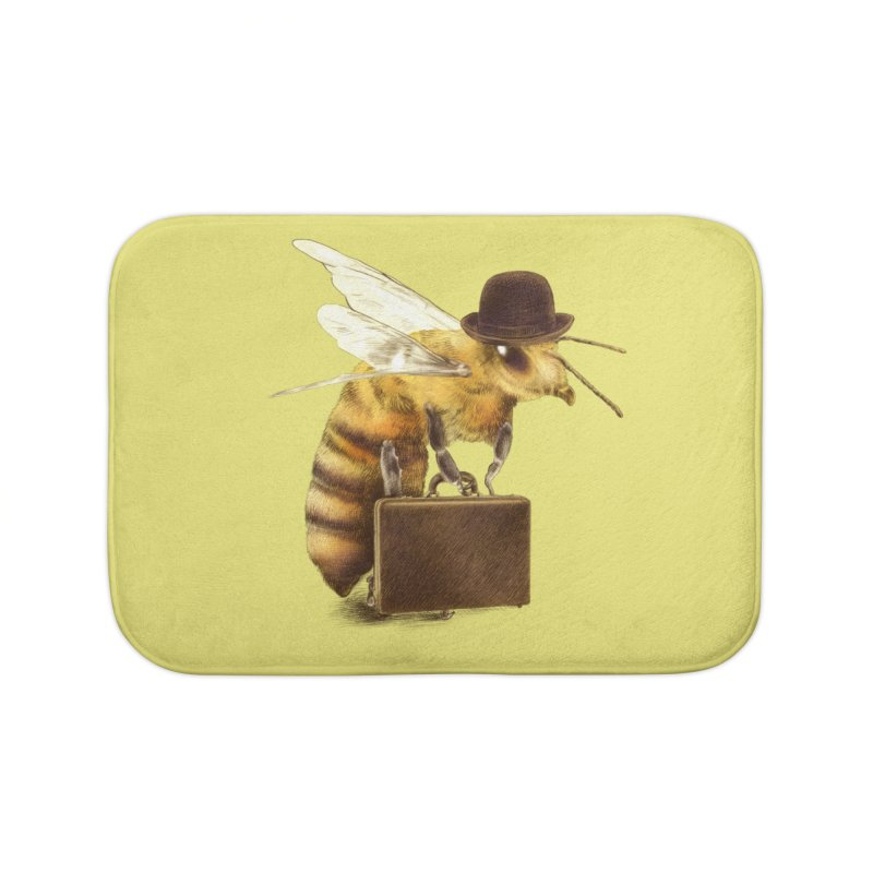 Worker Bee Home Bath Mat by ericfan's Artist Shop
