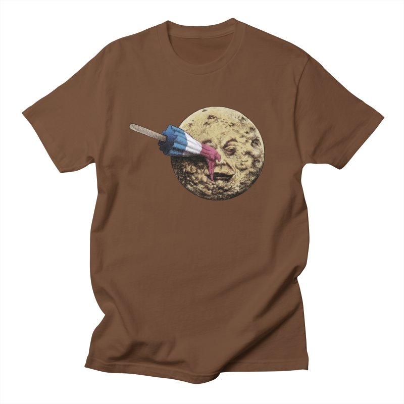 Le voyage du popsicle in Men's T-Shirt Brown by ericfan's Artist Shop