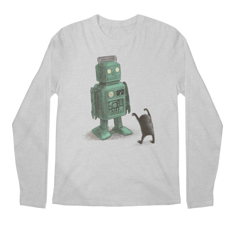 Robot Vs Alien Men's Regular Longsleeve T-Shirt by ericfan's Artist Shop