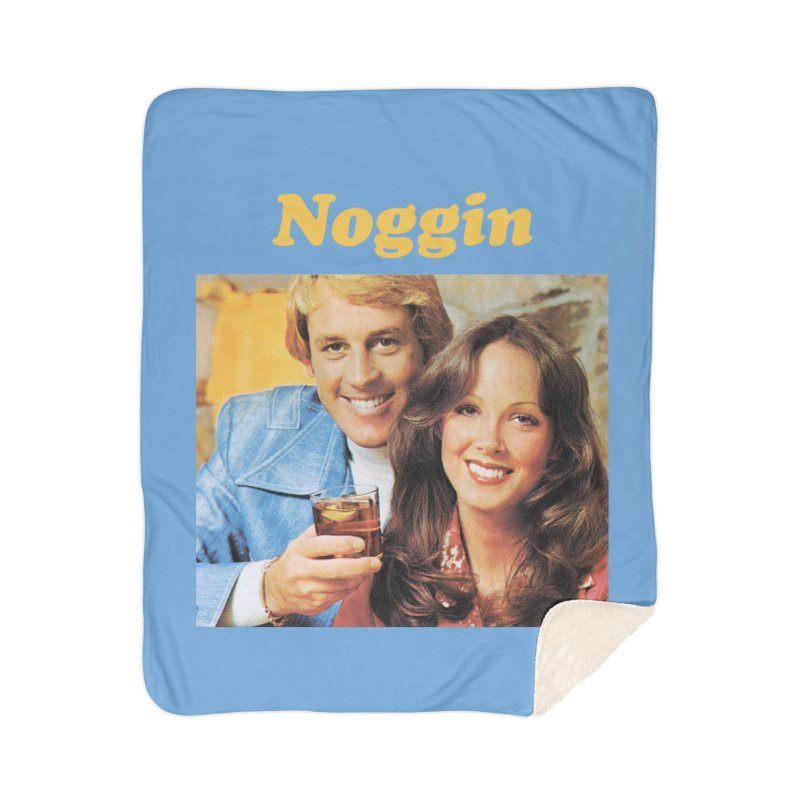 Noggin Home Sherpa Blanket Blanket by ericpeacock's Artist Shop