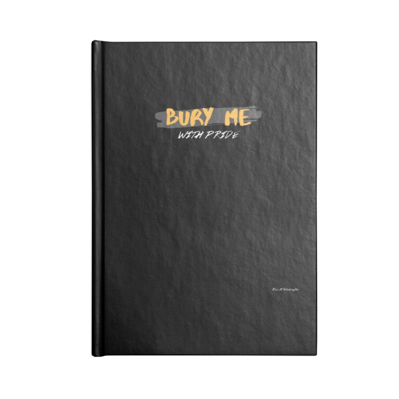 with pride Accessories Lined Journal Notebook by Eric Washington's Merch Shop