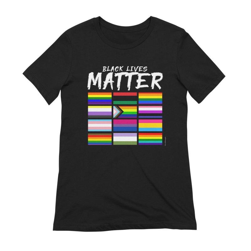 ALL BLM Women's Extra Soft T-Shirt by Eric Washington's Merch Shop