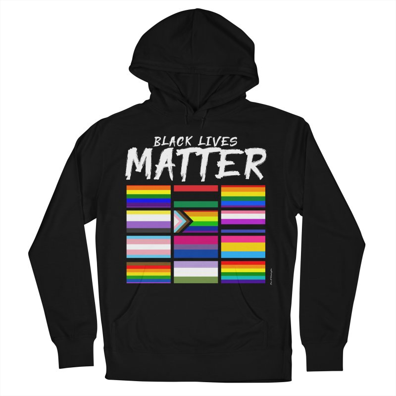 ALL BLM Men's French Terry Pullover Hoody by Eric Washington's Merch Shop