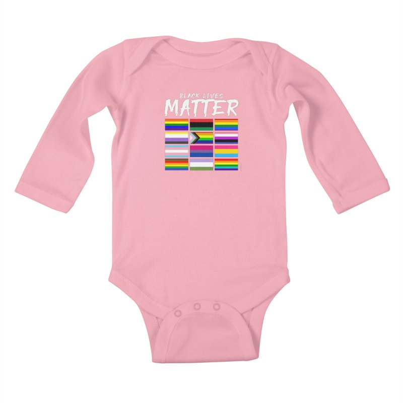 ALL BLM Kids Baby Longsleeve Bodysuit by Eric Washington's Merch Shop