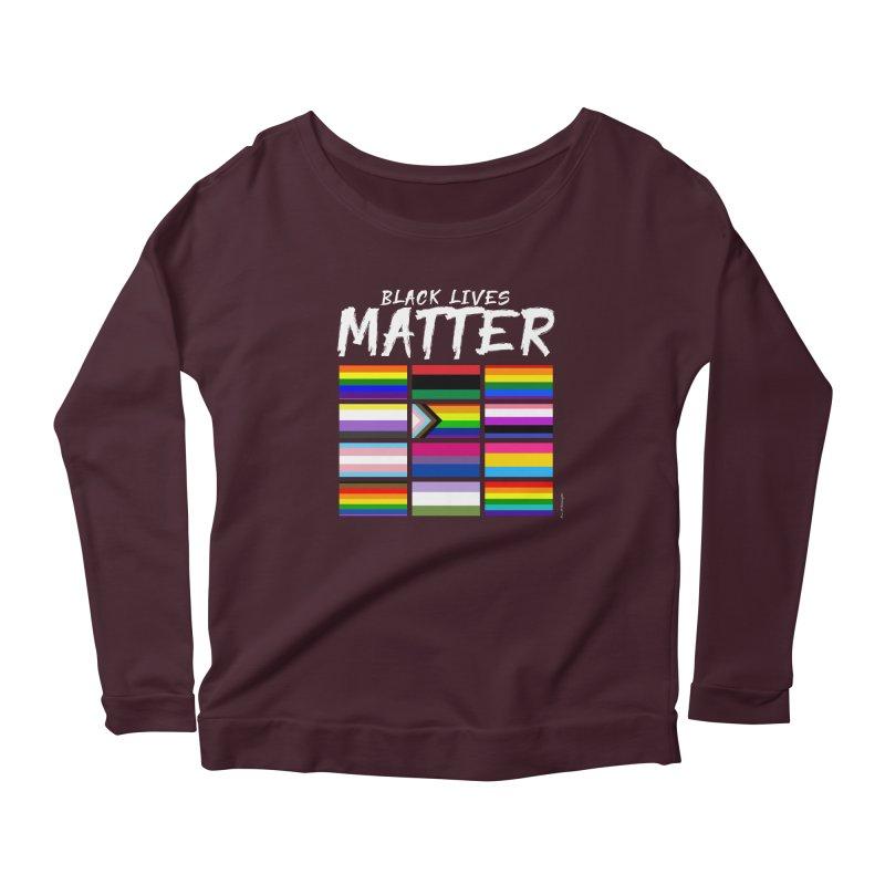 ALL BLM Women's Scoop Neck Longsleeve T-Shirt by Eric Washington's Merch Shop
