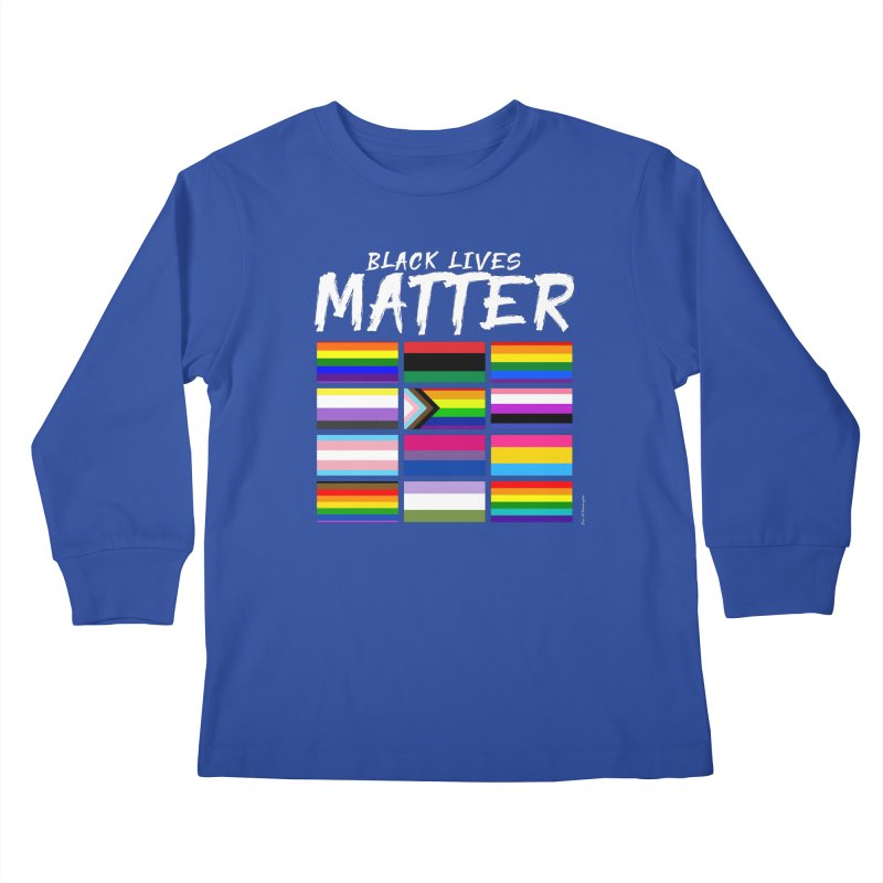 ALL BLM Kids Longsleeve T-Shirt by Eric Washington's Merch Shop