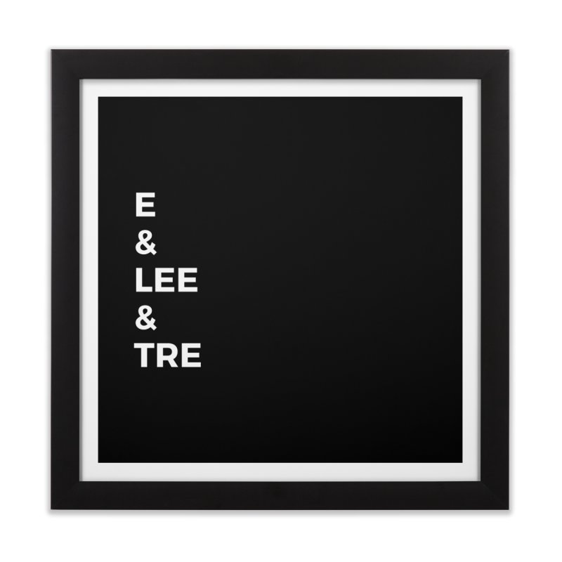 Eric Washington x The Elite Podcast - The Cast #1 Home Framed Fine Art Print by Eric Washington's Merch Shop