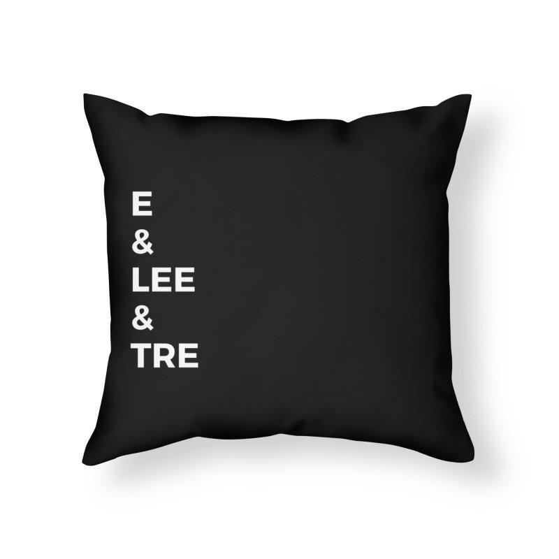 Eric Washington x The Elite Podcast - The Cast #1 Home Throw Pillow by Eric Washington's Merch Shop