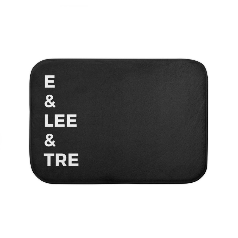Eric Washington x The Elite Podcast - The Cast #1 Home Bath Mat by Eric Washington's Merch Shop