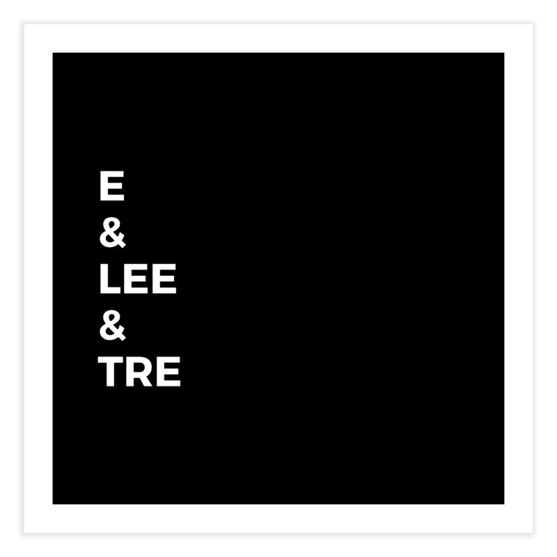 Eric Washington x The Elite Podcast - The Cast #1 Home Fine Art Print by Eric Washington's Merch Shop