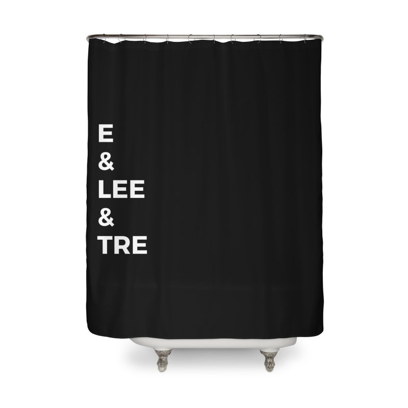 Eric Washington x The Elite Podcast - The Cast #1 Home Shower Curtain by Eric Washington's Merch Shop