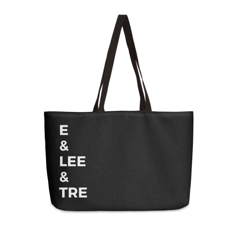 Eric Washington x The Elite Podcast - The Cast #1 Accessories Weekender Bag Bag by Eric Washington's Merch Shop