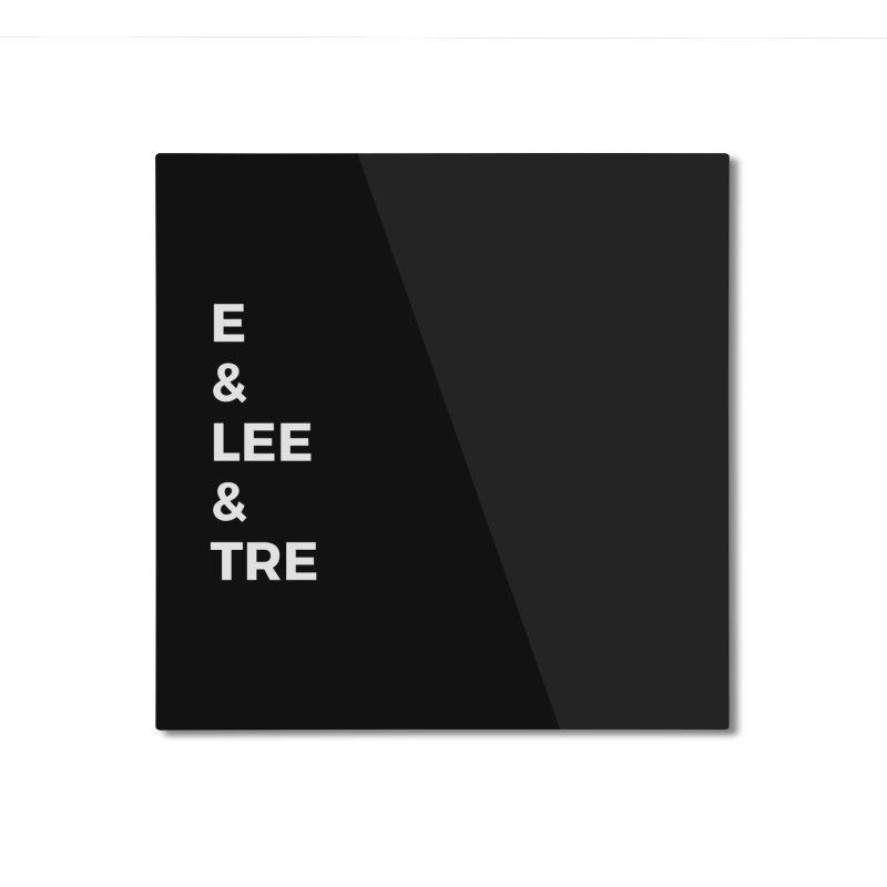 Eric Washington x The Elite Podcast - The Cast #1 Home Mounted Aluminum Print by Eric Washington's Merch Shop